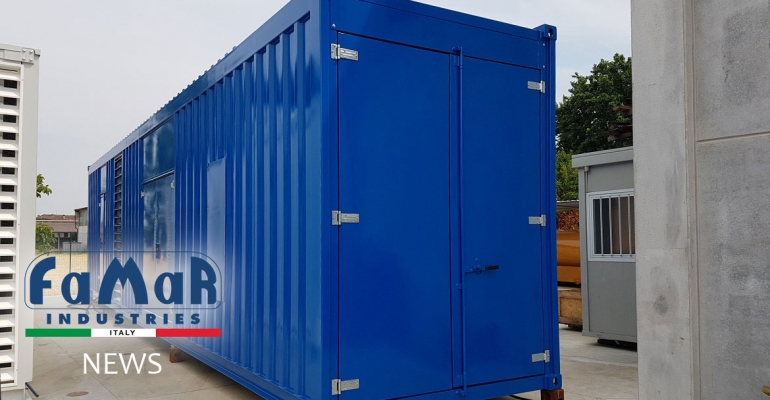 Container for 1675 KVA generating set for OIL & GAS application